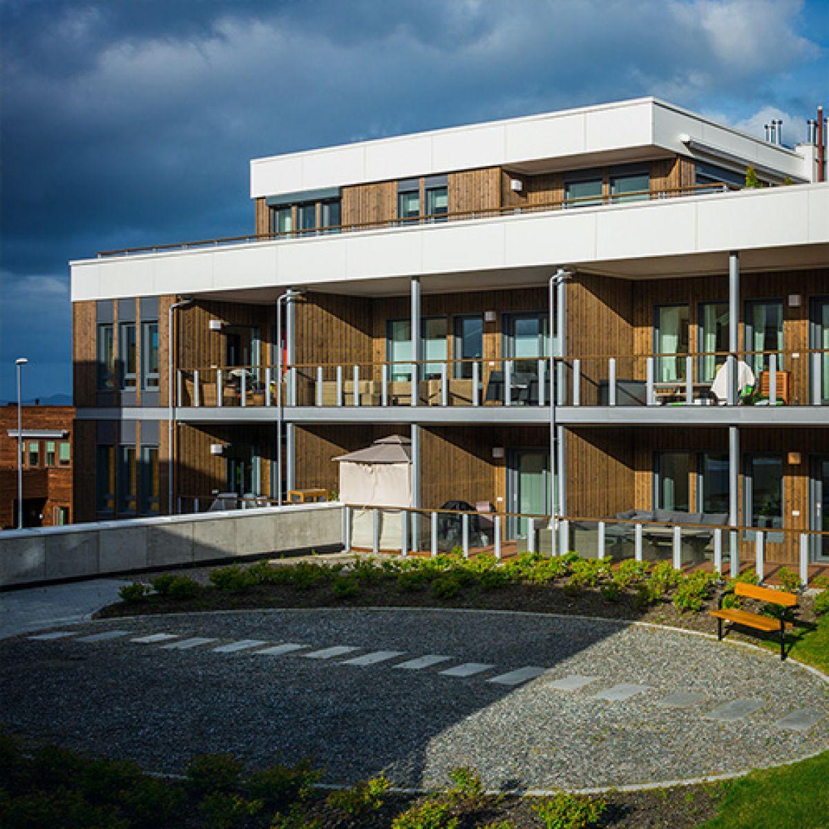 "Residential area ""Grilstad Park B3"" in Trondheim, Norway"